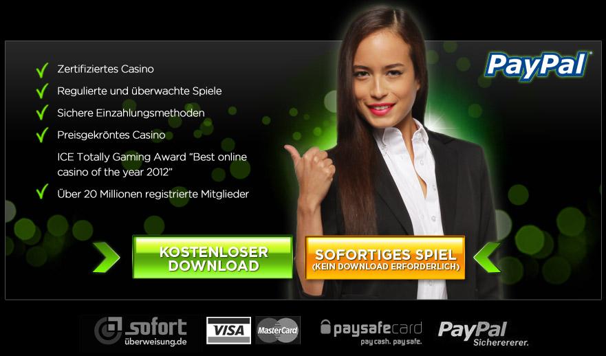 paypal casino app