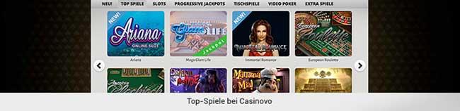 Casinovo Spiele
