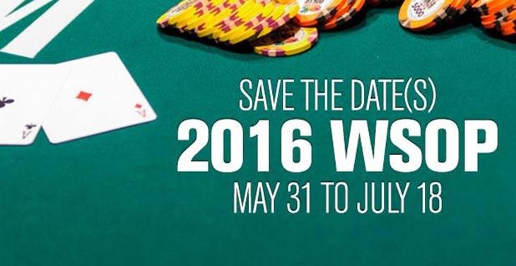 Termine WSOP 2016