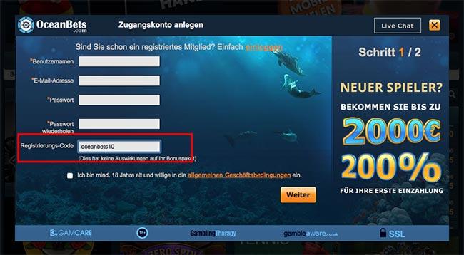 oceanbets no deposit bonus
