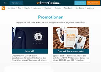 intercasino bonus