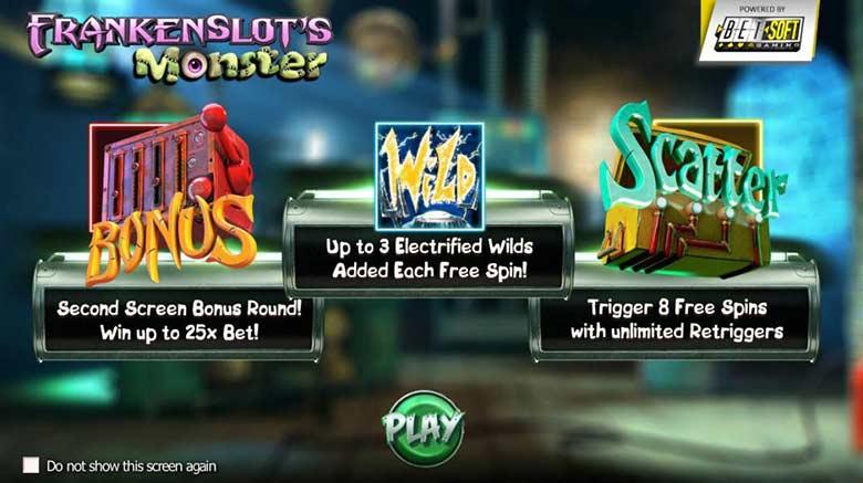 Frankenslots monster bonus features
