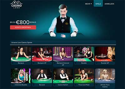 casinoland live dealer