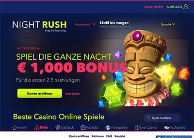 nightrush casino webseite